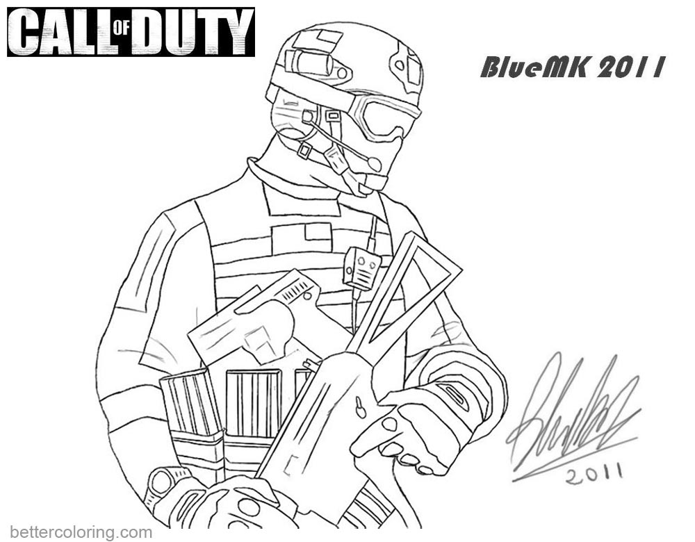 Call Of Duty Coloring Pages Mw3 Frost By Bluemk Free Printable