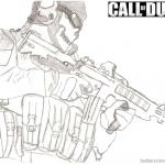 Call of Duty Coloring Pages Sketch