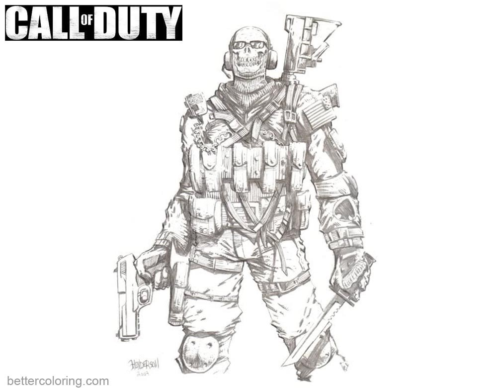Call Of Duty Ghost Coloring Pages Free Printable Coloring Pages