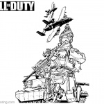 Call of Duty Lineart Coloring Pages