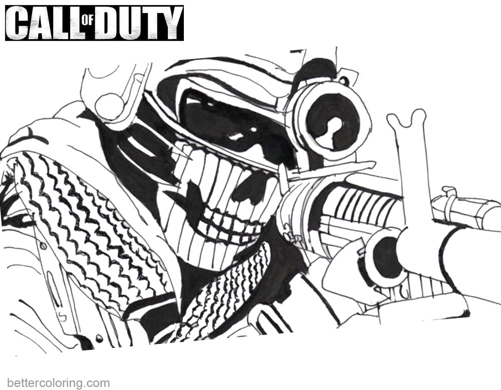 Call of Duty Printable Coloring Pages printable for free