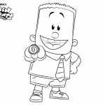 Captain Underpants Coloring Pages Characters George