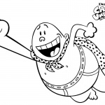 Captain Underpants Coloring Pages Flying