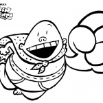 Captain Underpants Coloring Pages Flying with Big Smile