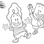 Captain Underpants Coloring Pages George Play with Harold