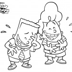 Captain Underpants Coloring Pages George and Harold Laughing