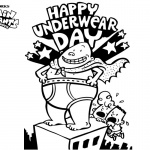 Captain Underpants Coloring Pages Happy Underwear Day
