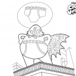 Captain Underpants Coloring Pages On the Building
