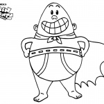 Captain Underpants Coloring Pages Simple Linear