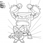 Captain Underpants Coloring Pages Turbo Toilet 2000 and Professor Poopypants