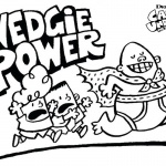 Captain Underpants Coloring Pages Wedgie Power