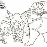 Captain Underpants Coloring Pages with George and Harold