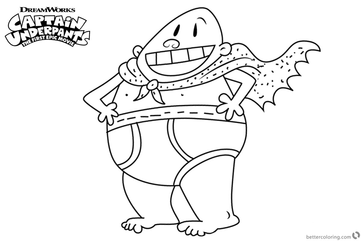 Captain Underpants Coloring Pages printable for free