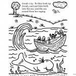 Cartoon Jonah And The Whale Coloring Pages Line Art