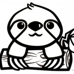 Cartoon Sloth Coloring Pages