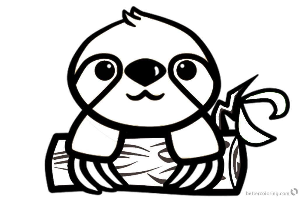 Cartoon Sloth Coloring Pages - Free Printable Coloring Pages