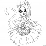 Catty Noir from Monster High Coloring Pages