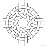Celtic Knot Coloring Pages Round Clipart