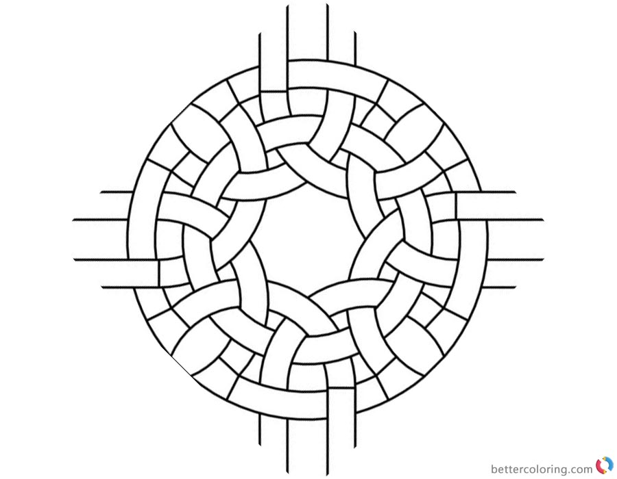 Celtic Knot Coloring Pages Round Clipart printable for free