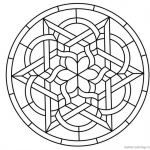 Celtic Knot Coloring Pages Round Stained Glass Panel