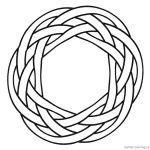 Celtic Knot Coloring Pages Simple Ornament
