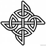 Celtic Knot Coloring Pages Simple Pattern