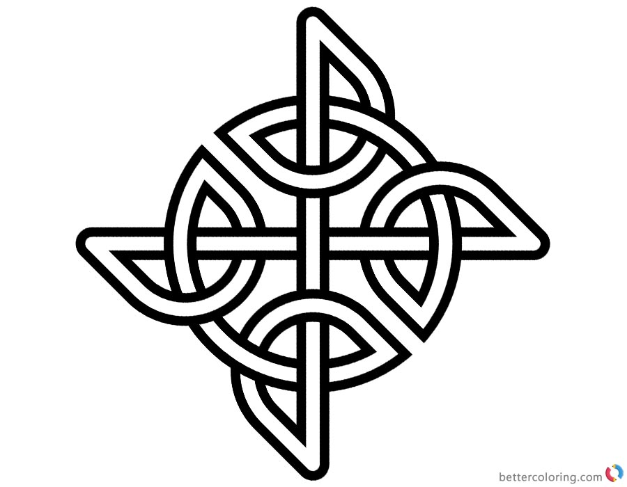 Celtic Knot Coloring Pages Simple Pattern printable for free