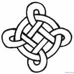 Celtic Knot Coloring Pages Simple Template