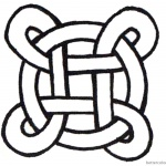 Celtic Knot Coloring Pages Simple for Kids