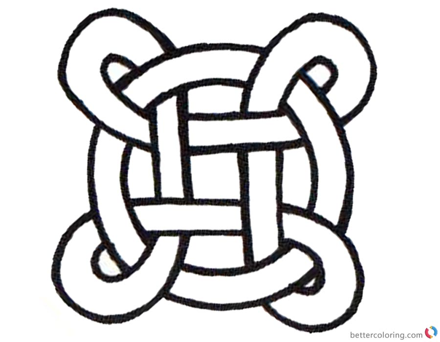 Celtic Knot Coloring Pages Simple for Kids printable for free