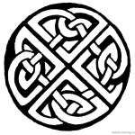 Celtic Knot Coloring Pages Sketch