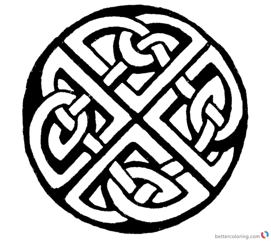 photograph regarding Printable Celtic Knot Patterns called Celtic Knot Coloring Web pages Sketch - No cost Printable Coloring