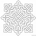 Celtic Knot Coloring Pages Square Clipart