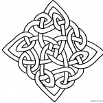 Celtic Knot Coloring Pages Square Pattern