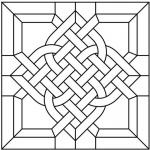 Celtic Knot Coloring Pages Stain Glass Pattern