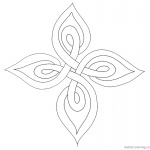 Celtic Knot Coloring Pages Template Clipart