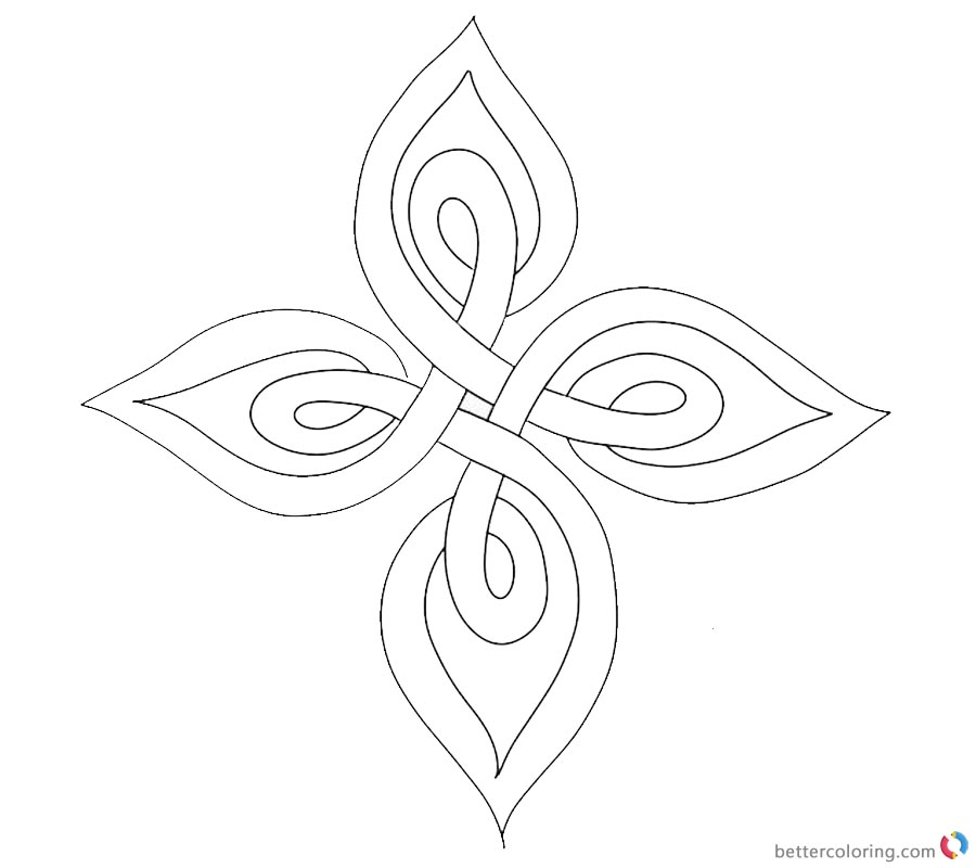 Celtic Knot Coloring Pages Template Clipart printable for free