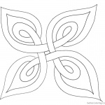 Celtic Knot Coloring Pages Template Plant Leaf