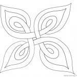 Celtic Knot Coloring Pages Template Plant Leaf