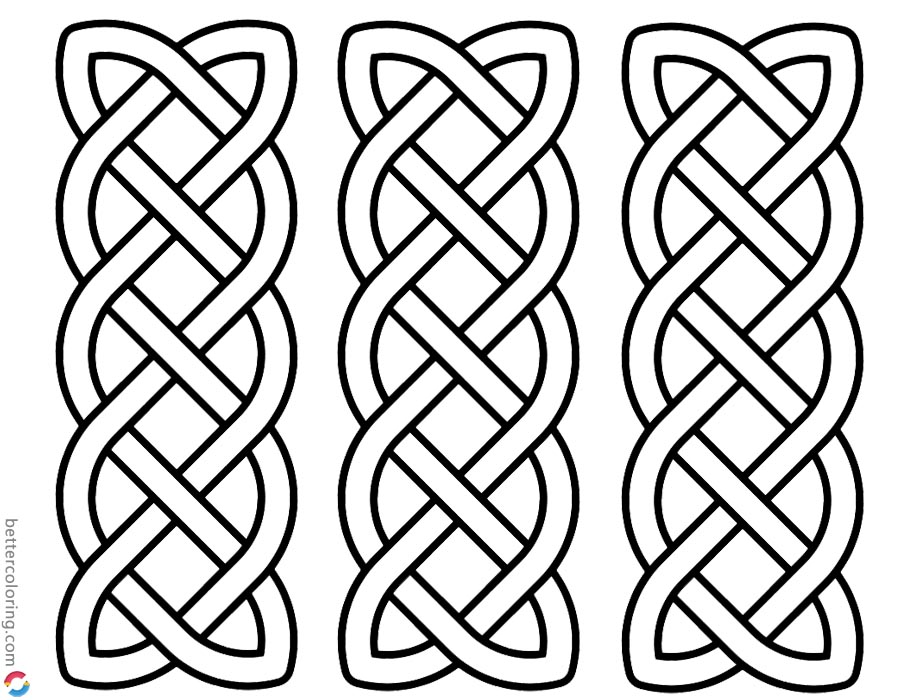 Celtic Knot Coloring Pages Three in One printable for free