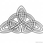 Celtic Knot Coloring Pages Triangle Pattern