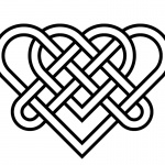 Celtic Knot Coloring Pages Wedding Heart for Love