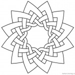 Celtic Knot Coloring Pages Work Dodeca