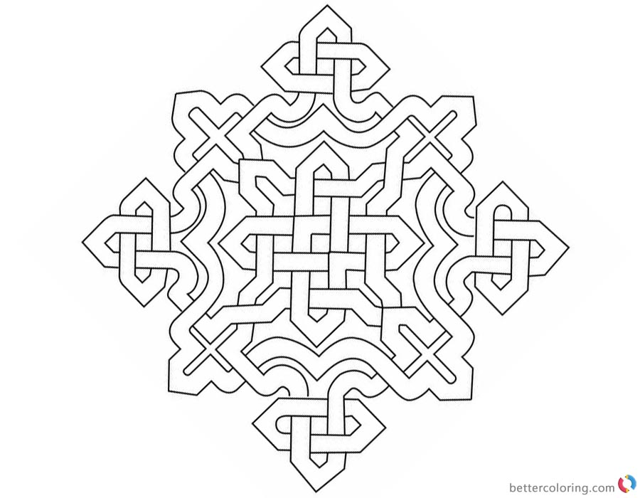 Celtic Knot Coloring Pages printable for free