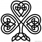 Celtic Knot Coloring Pags Shamrock Pattern