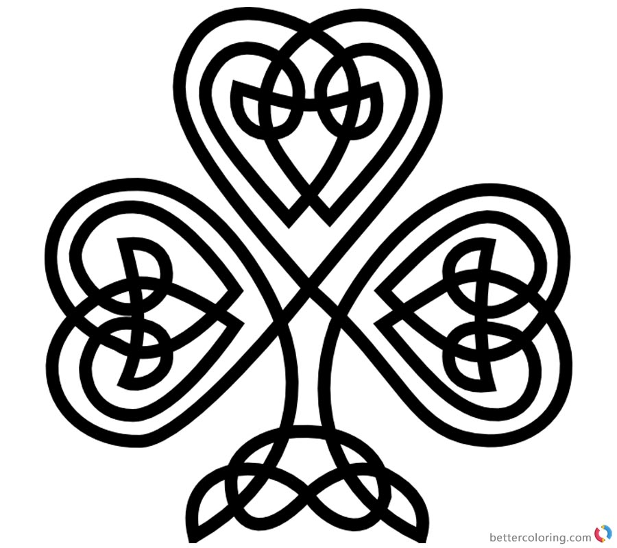 image relating to Printable Shamrock Pattern identified as Celtic Knot Coloring Pags Shamrock Routine - Cost-free Printable