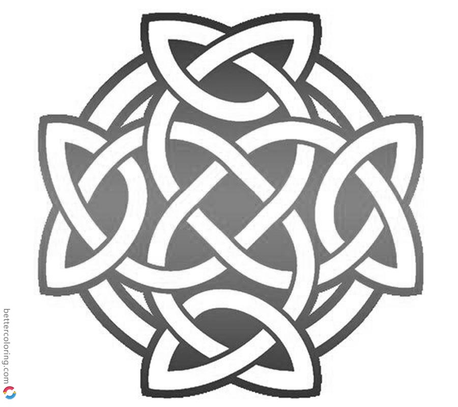 picture about Printable Celtic Stencils named Celtic Knot Coloring Spherical Tattoo - Free of charge Printable Coloring