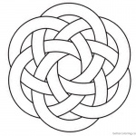 Celtic Knotwork Coloring Pages Hexagon Clipart