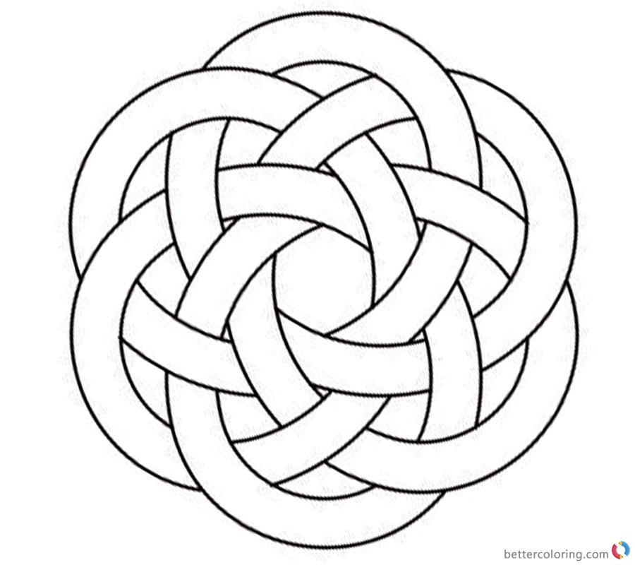 Celtic Knotwork Coloring Pages Hexagon Clipart printable for free