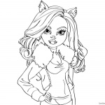 Clawdeen Wolf from Monster High Coloring Pages